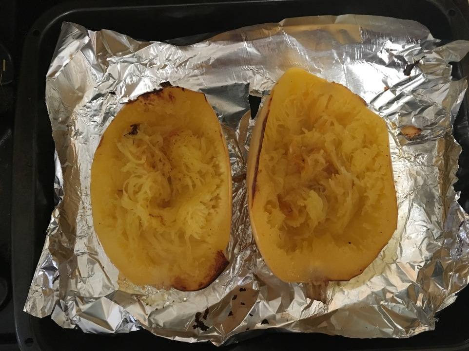 pull out sides of squash with fork.JPG